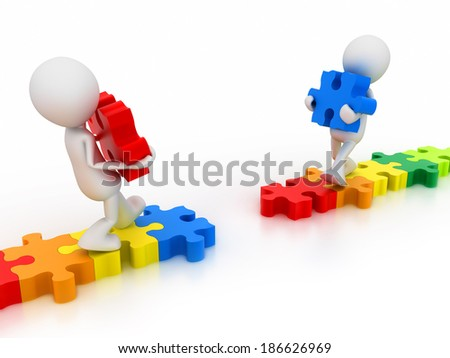 Build Bridges - stock photo