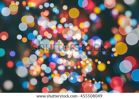 bulbs lights background:blur of Christmas wallpaper decorations concept.holiday festival backdrop:sparkle circle lit celebrations display. - stock photo