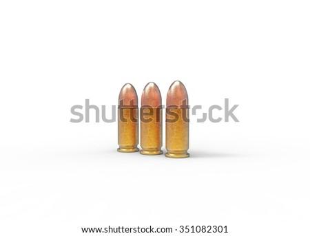 3 Bullets - stock photo