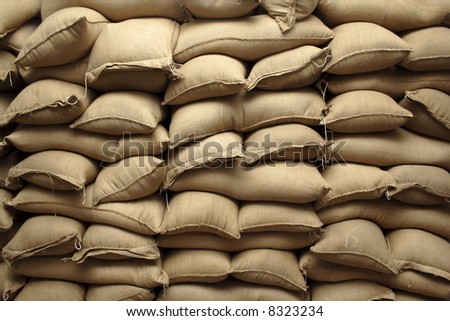 bundle of burlaps - stock photo