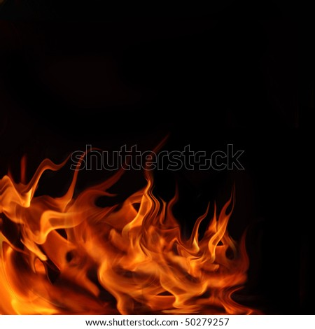 burning fire - stock photo