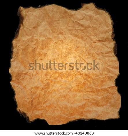 Burnt paper background - stock photo