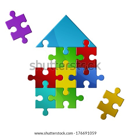 Business concept - Build your own house - stock photo