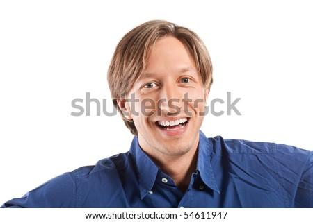 business man. isolated on white background - stock photo