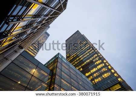 Business office building in London, England, UK - stock photo