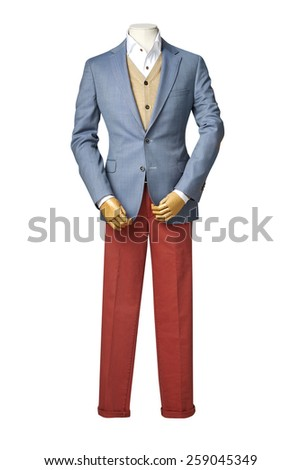 business suit on Mannequin with clipping path