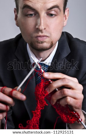 businessman focus on success builds his career - stock photo