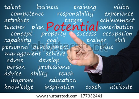businessman pointing potential concept
