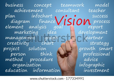 businessman pointing vision concept