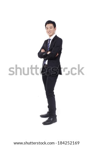 Businessman standing with arms crossed chest