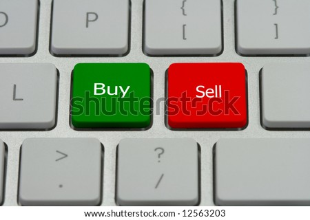 """Buy/Sell"" buttons - stock photo"