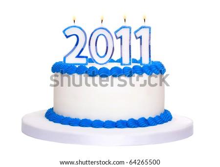 2011 cake - stock photo