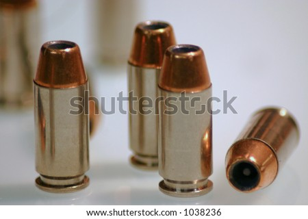 40 Cal. Hollowpoint Ammo - stock photo