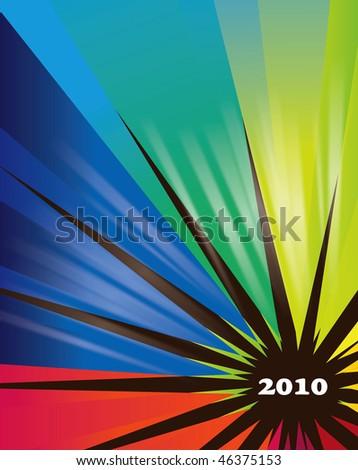 2010 calendar - stock photo