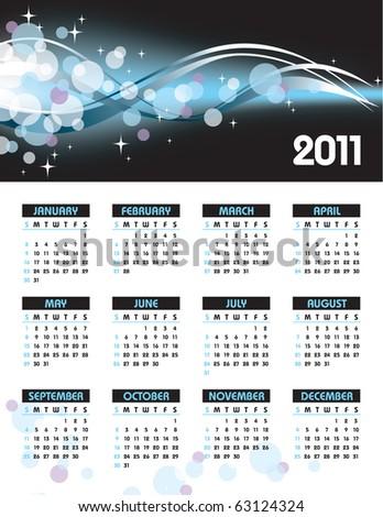 2011 Calendar. - stock photo
