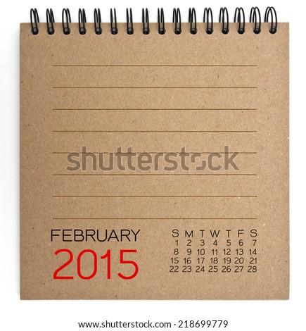 2015 Calendar brown Texture Paper - stock photo
