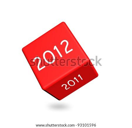 2012 calendar dice - stock photo