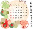2012 calendar may with zodiac signs and united states holidays - stock photo