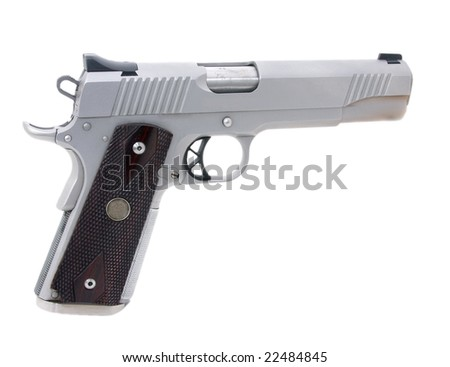 45 caliber pistol - stock photo