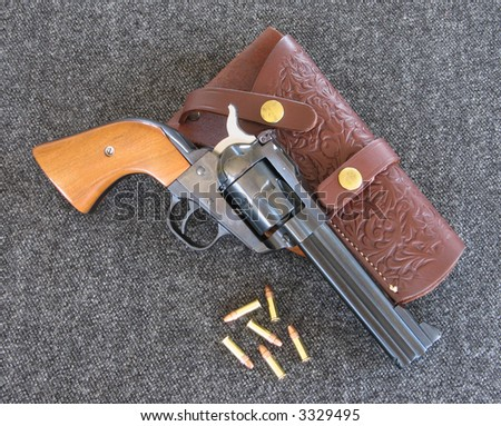 "22 caliber ""Single Six"" revolver - stock photo"