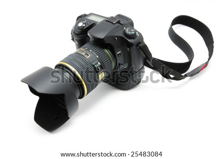 camera isolated on a white