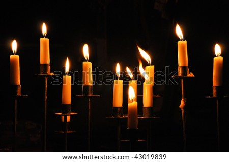 11 candles - stock photo