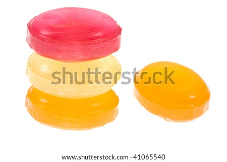 candy isolated on a white - stock photo