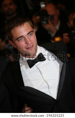 CANNES, FRANCE - MAY 18: Robert Pattinson attends 'The Rover' premiere during the 67th Annual Cannes Film Festival on May 18, 2014 in Cannes, France - stock photo