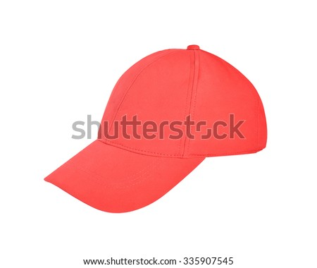 Cap red color isolated on white background. This has clipping path.