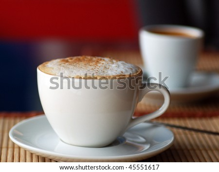 cappuccino cup - stock photo