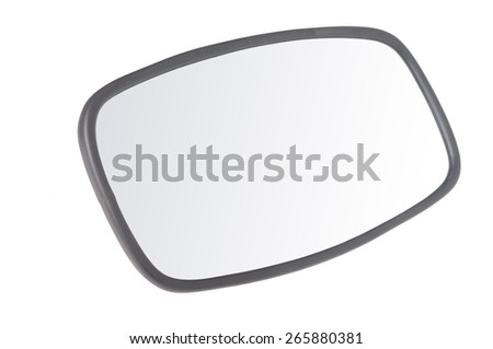 car mirror isolated on white  - stock photo