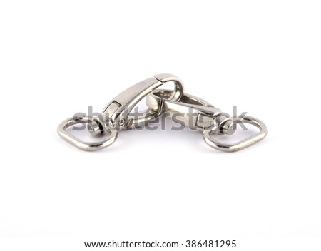 carabiners on white