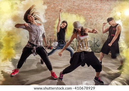 Cardio  dance fitness workout - stock photo