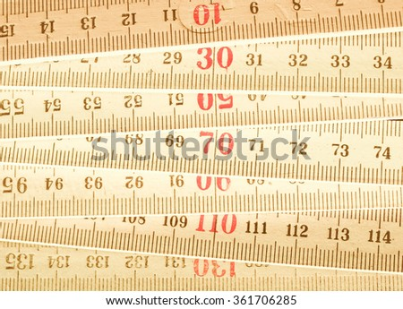 Carpenter's ruler vintage