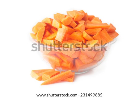 carrots in a bowl  - stock photo