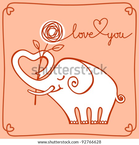 Love Elephant Photos RoyaltyFree Images Vectors – Elephant Valentines Card
