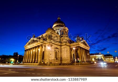Catedral de San Isaac en San Petersburgo , Rusia.  St. Isaac's Cathedral in St. Petersburg, Russia - stock photo