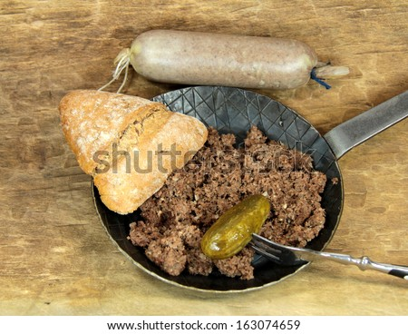 cattle sausage - stock photo