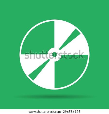 CD or DVD icon. Flat illustrator  - stock photo