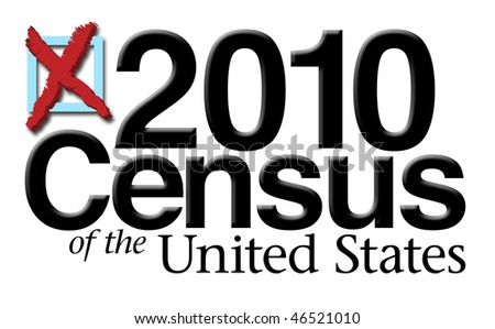 2010 Census Graphic - stock photo