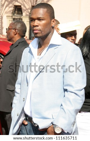 50 Cent arriving at the 2007 BET Awards. The Shrine Auditorium, Los Angeles, CA. 06-26-07