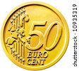 50 cents of euro coin - stock