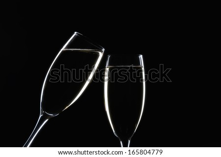 champagne glasses cheer