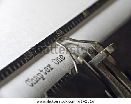 """chapter one"" written on a typewriter - stock photo"
