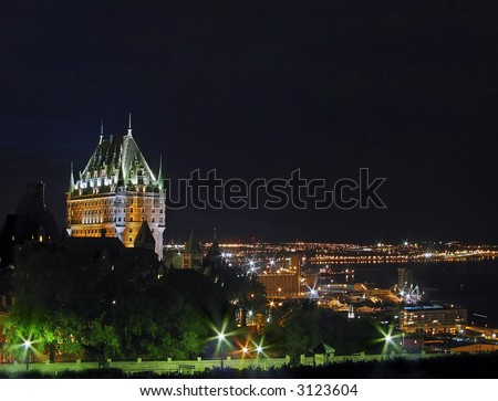 """Chateau Frontenac"", Quebec City, Canada. - stock photo"
