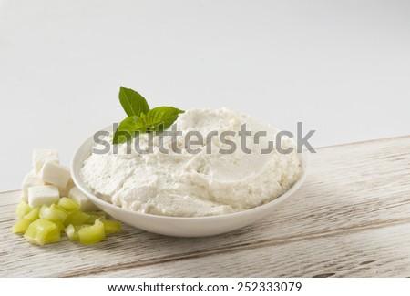 cheese salad Greek spread - stock photo