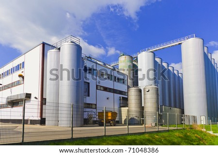 chemical factory industrial   plant.  Industry - stock photo