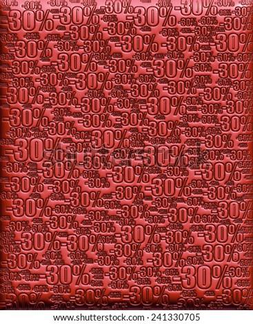 30% cherry red background  - stock photo