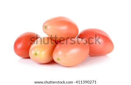 cherry tomatoes isolated on the white background. - stock photo