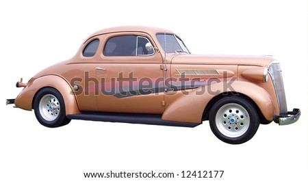 1937 Chevrolet isolated with clipping path